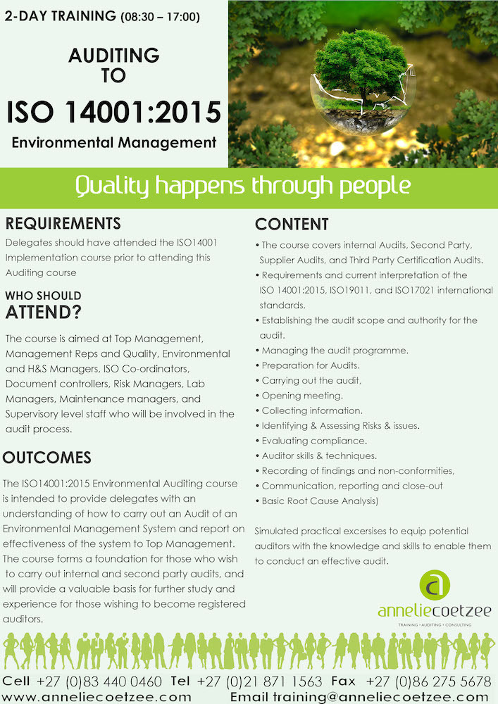 APRIL 2020 ISO 14001 Auditing